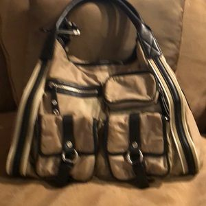 Cole Hahn Khaki Tote Bag